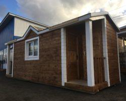 Модульный дом 7х2,3м с душем, туалетом и 2 крылечками